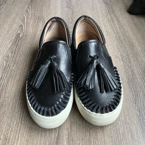 Jslide black slip on sneaker size 7